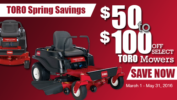 Toro Spring Rebates